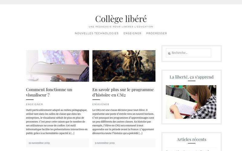 Collège libéré - Une pédagogie pour libérer l'éducation