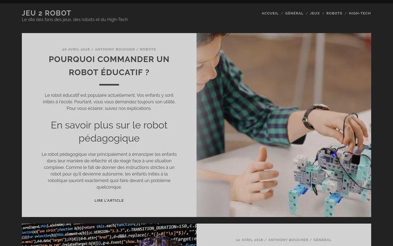 Jeu 2 robot - Le site des fans des jeux, des robots et du High-Tech