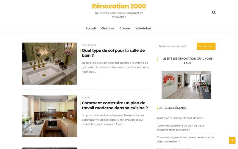 Rénovation 2000 - Tout savoir pour réussir son projet de rénovation